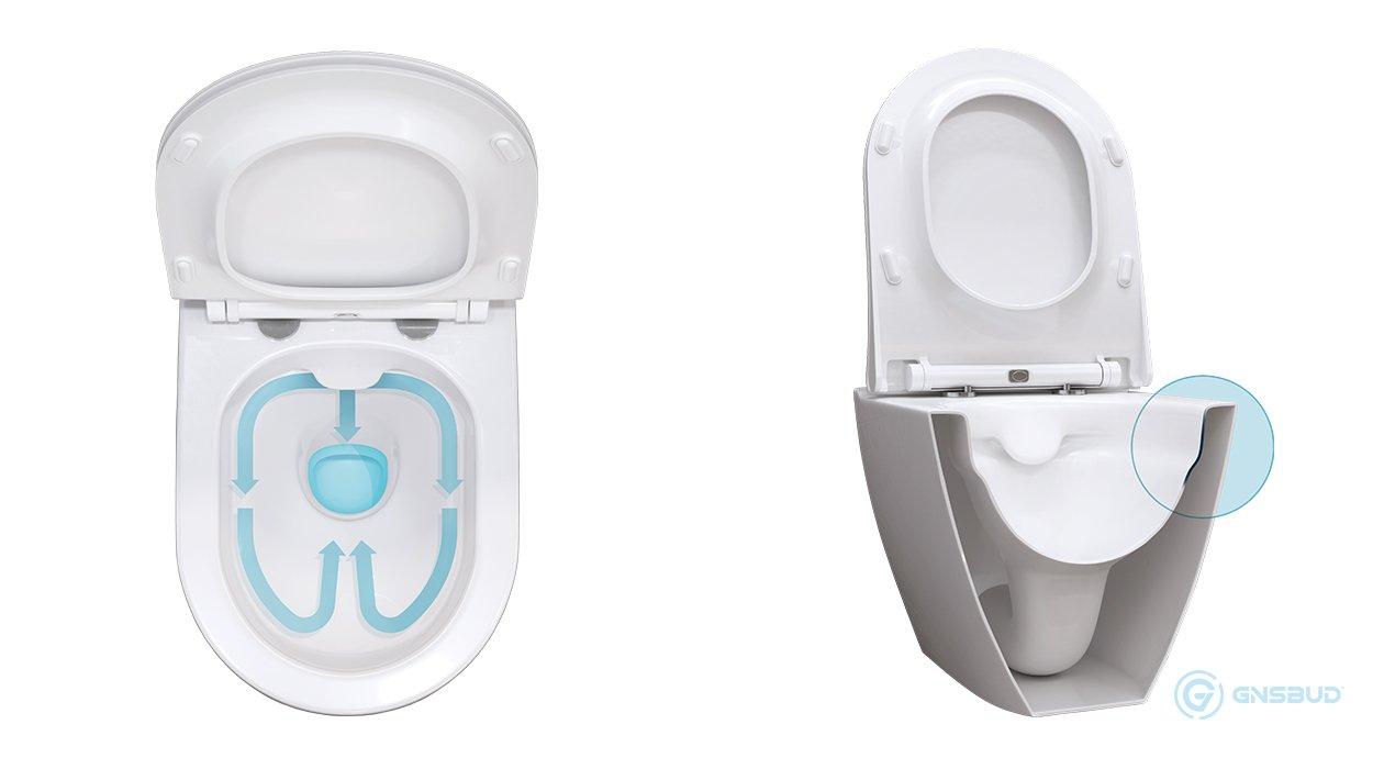 Cersanit Clean On Miska Wc Toaleta Bez Kołnierza Bez Rantu Zewnętrznego Muszla Bez Rantowa - www.Gnsbud.pl