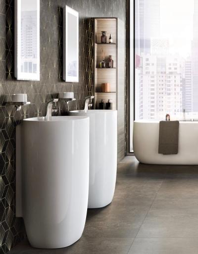 ⚫ Roca Beyond – szeroka oferta umywalek nablatowych, wiszących oraz miski WC bez kołnierza.