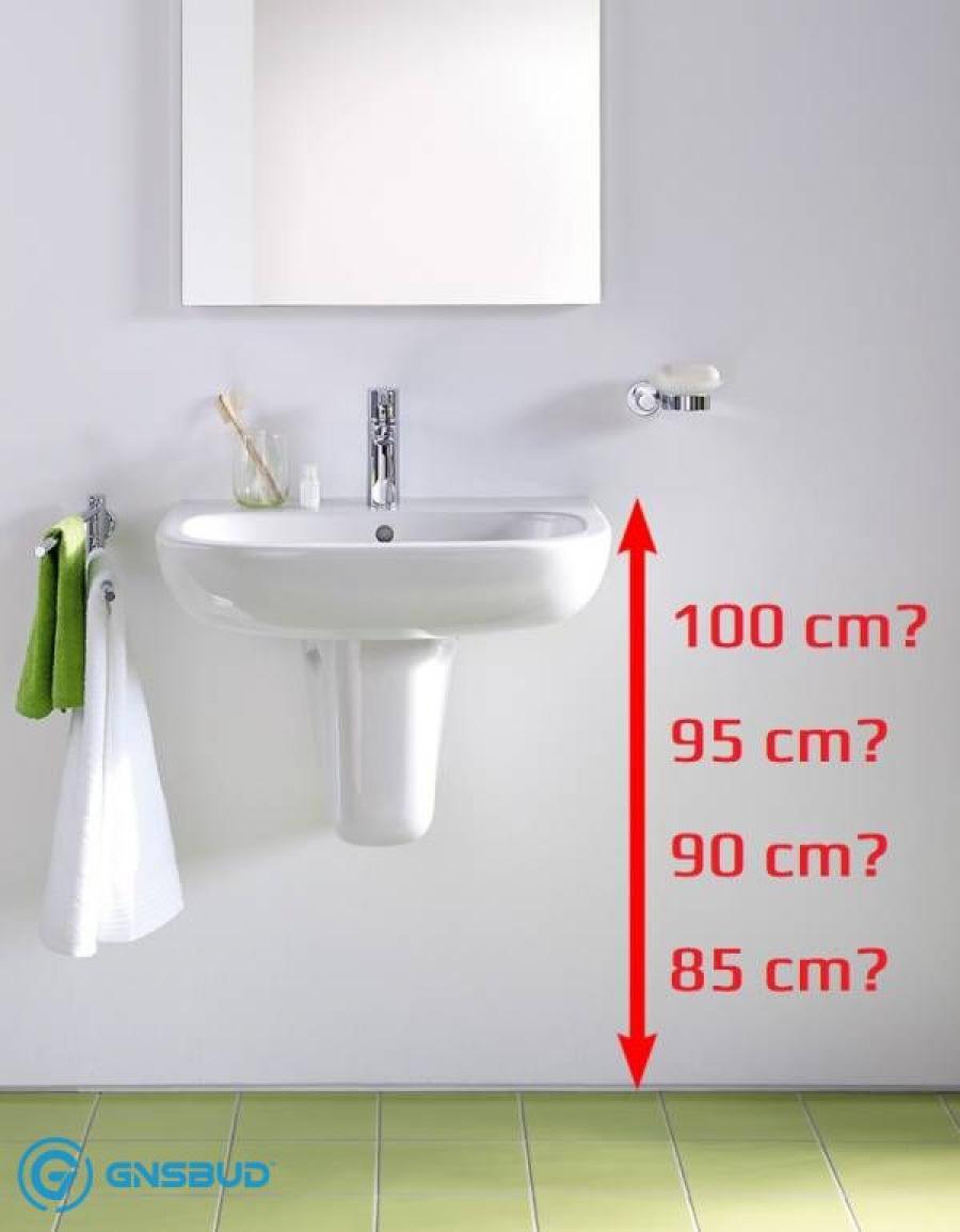 Na jakiej wysokości umywalka podwieszana od podłogi, a wpuszczana w blat do ziemi? Forum, Blog, Opinie, Normy w łazience tylko na www.Gnsbud.pl!