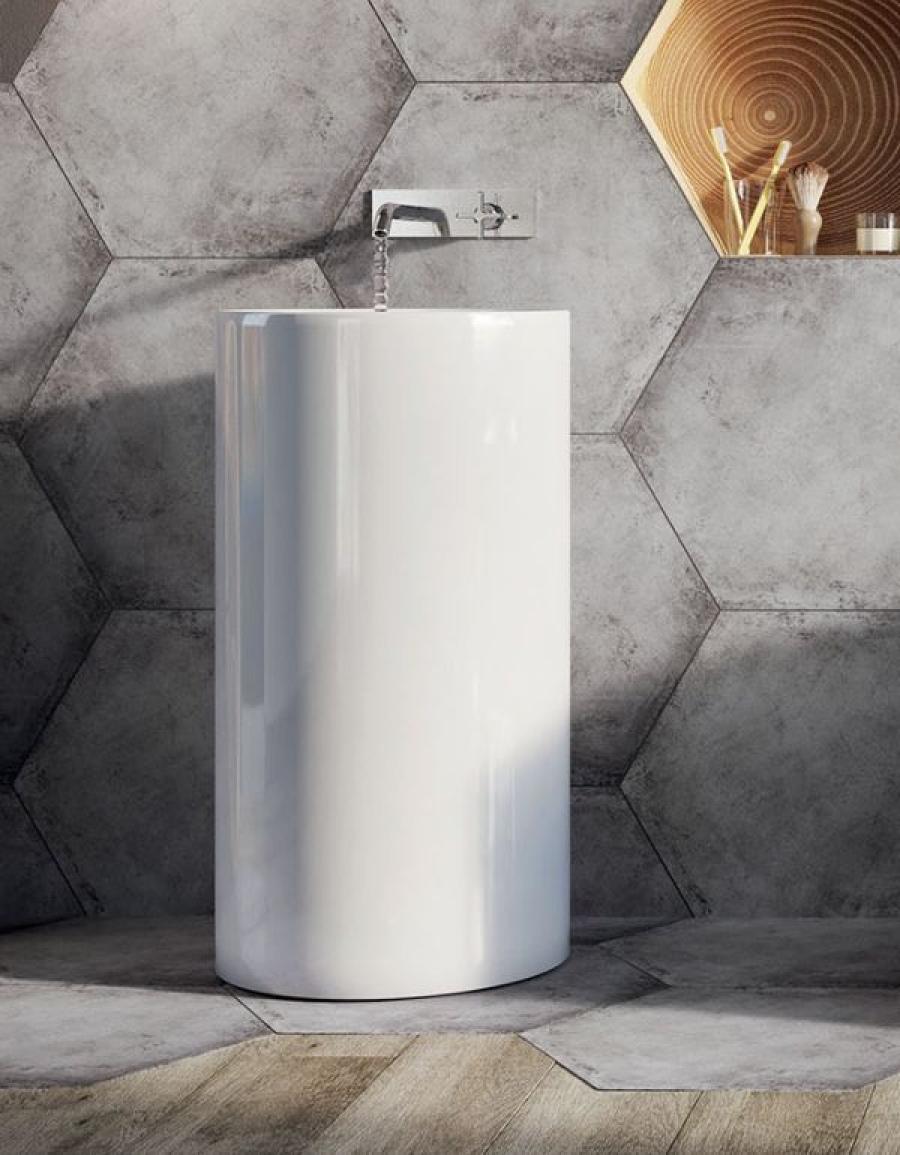 Heksagon w kuchni i salonie, płytki heksagonalne do łazienki – INSPIRACJE, POMYSŁY, ZDJĘCIA, ARANŻACJE
