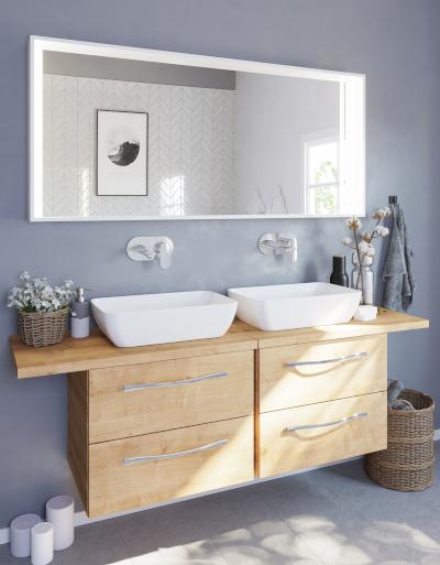 Szaro-drewniana łazienka i 26 pomysłów na modne wnętrze! Sprawdź nasze inspiracje