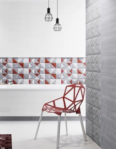 Płytki Delicate Lines Opoczno to lekcja geometrii w łazience