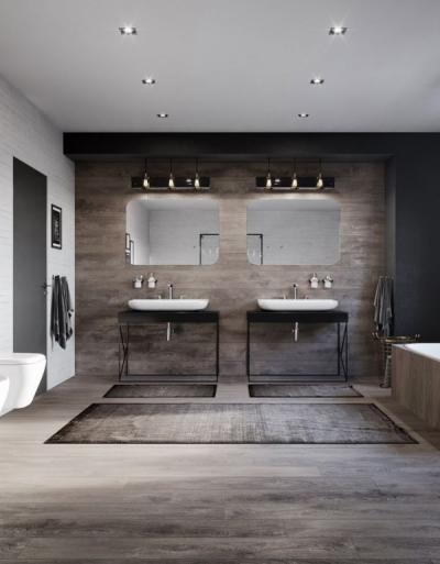 17 POMYSŁÓW na Łazienkę w drewnie. Łazienka biało-drewniana, szara łazienka z drewnem czy łazienka drewno beton? Aranżacje, inspiracje!