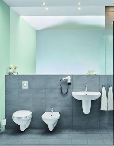 Grohe Bau Ceramic – umywalka wisząca i wpuszczana w blat, miska WC bez kołnierza